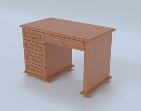 Antique desk 3D model