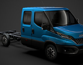 2018 Iveco Daily Crew Cab L3 Chassis 2020 3D model
