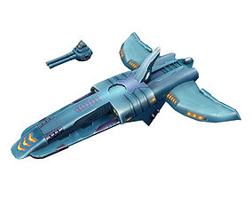 Machinery - Small Attack Ship 03 3D model