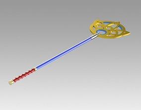 Final Fantasy X FF10 Yuna Staff Cosplay 3D print model 1
