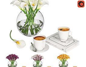 Calla Flowers 3D