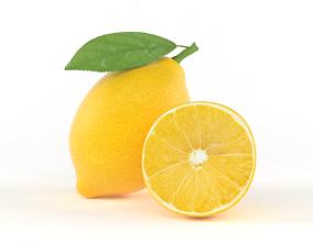 tropical Lemon Fruit 3D model