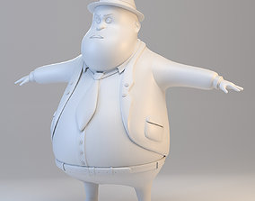 3D model Cartoon Fat Inspector