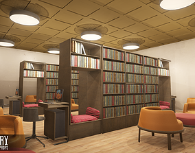 Library - interior and props 3D asset PBR
