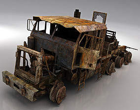 army wreck HETS 3D model