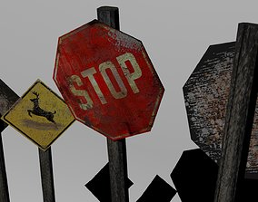 3D model TRANSIT SIGNS