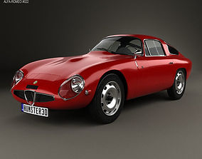 3D model Alfa Romeo Giulia TZ 105 1963