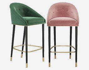 Malay Bar Chair Mid Century Brabbu 3D model