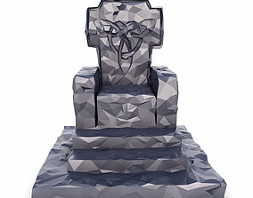 3D asset Throne Low Poly