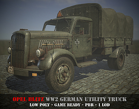 3D model Opel Blitz - WW 2 German Utility Truck - Game 2