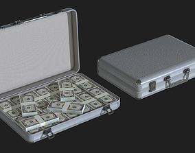 Lowpoly Money Suitcase 3D model