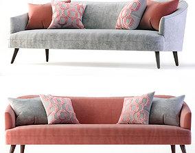 Crate and Barrel Agnes Velvet Mid-Century Sofa 3D model