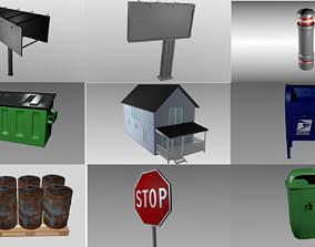 10 Object exterior pack 3D asset