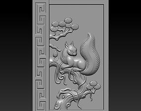 ornate 3D printable model squirrel