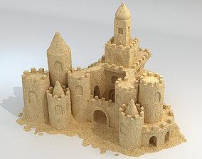 Sand Castle 3D asset