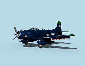 3D model Douglas A-1H Skyraider V03 USN