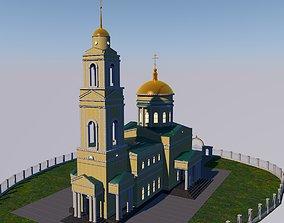 Trinity Cathedral Volsk 3D asset