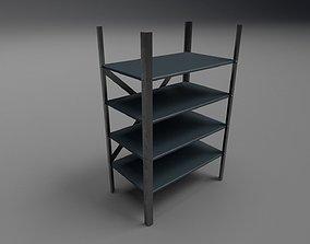 3D asset Low poly rack