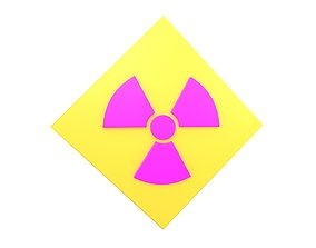 Radiation Symbol v3 003 3D asset