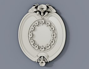 3D print model Baroque cartouches onlay element 013