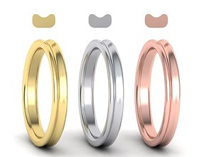 Concave Classic wedding band 3mm 3D printable model
