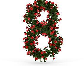 3D Rose eight