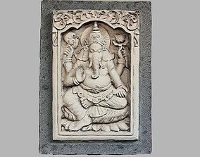 3D model Hindu God Ganesh Stone Barelief Bali style