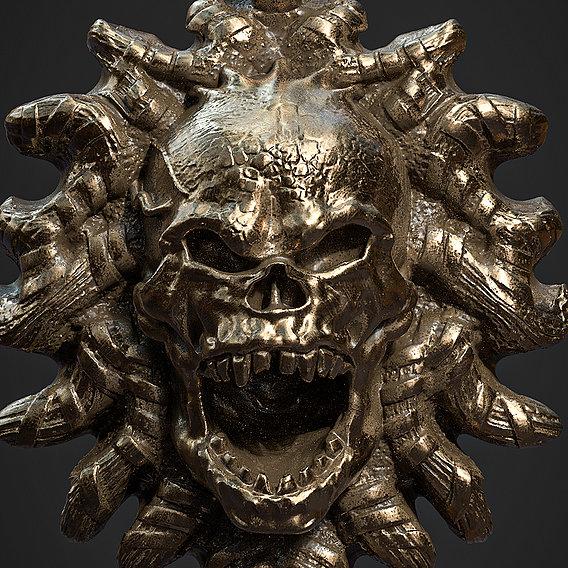 Skull Pendant 3d print model 20