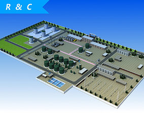 Wastewater Treatment Plant 3D model