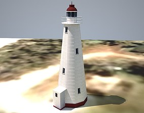 3D model The Lady Elliot Island Lighthouse Low poly