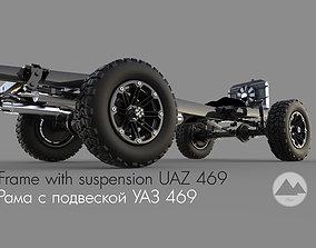 transmission Frame with suspension UAZ 3D model