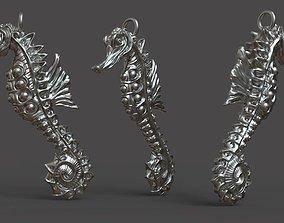 jewelry 3D print model Seahorse Pendant