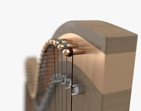 3D model Harp music