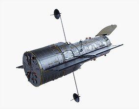 Hubble Space Telescope Animated 3D asset
