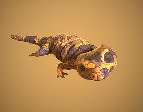 Lizard 3D asset animated