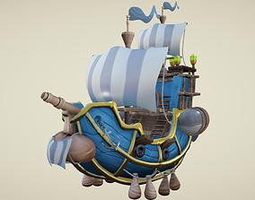 3D asset Flying Royal Ship