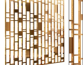 Decorative partition set 19 3D