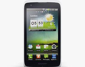 Sharp SH530U Dual Sim White 3D model phone