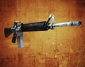 3D asset M16 Assault rifle