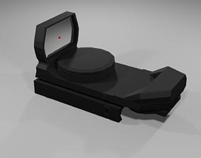 3D asset Low-Poly Red Dot Sight