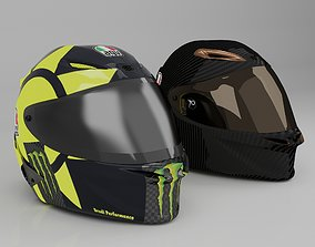 Helmet racing motorsport 3D model