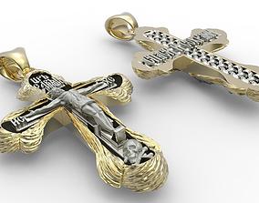 3D print model Orthodox cross blessed