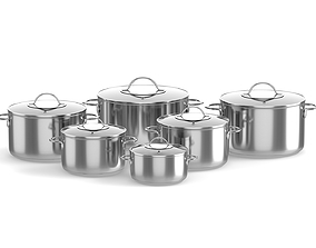 Cooking pots 3D model