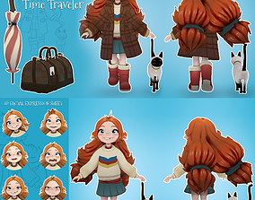 Maya Rigged Girl 3D model