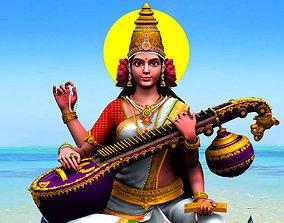 mahasaraswati god saraswati colour 3d model