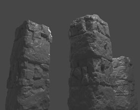 3D Ancient Pillar High Poly