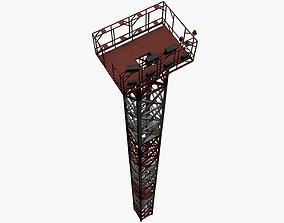 High Mast Lighting for Airports with PBR pack 3D model