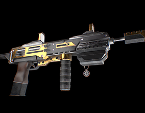 3D model Machine gun - Rifle game ready weapon