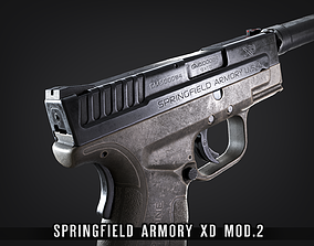 3D model XD Mod2 - FPS Subcompact Pistol