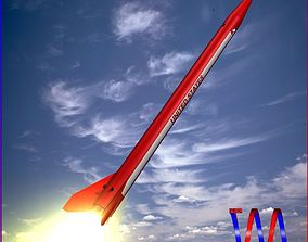 3D model Black Brant III Sounding Rocket